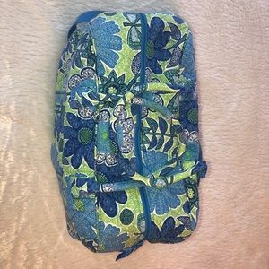 Vera Bradley blue and green patterned duffel bag